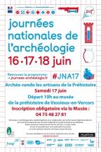 Affiche archéorando JNA 2017